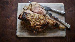Herbed leg of lamb