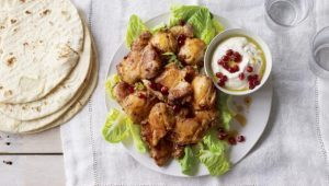 Oven-cooked chicken shawarma