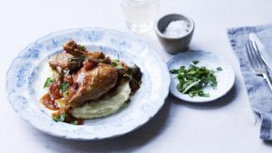 Chicken chasseur with creamy mash