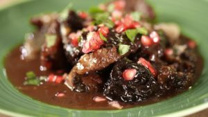 Lamb with port and prunes
