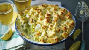 Mary's fish pie with soufflé topping