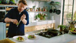 Jamie's Quick and Easy Food episode 3 2018 – crispy sea bass