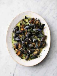 Creamy Cornish mussels