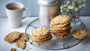 Ginger oat crunch biscuits