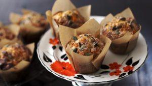 Rosemary and pumpkin muffins