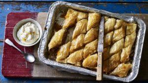 Walnut and honey baklava