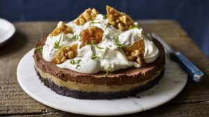 Chocolate and chilli mousse pie