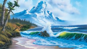 The Joy of Painting episode 3 – Mountain by the Sea