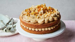 Coffee and praline cake