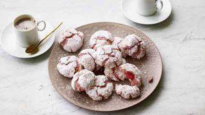 Raspberry amaretti biscuits