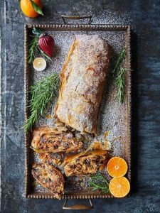 Anything goes Christmas strudel
