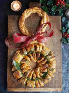 Christmas sausage roll wreath