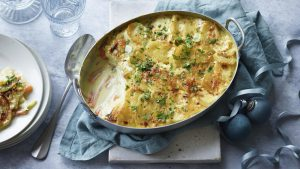 Christmas vegetable gratin