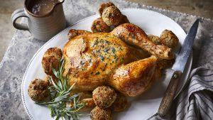 Lemon and tarragon roast chicken