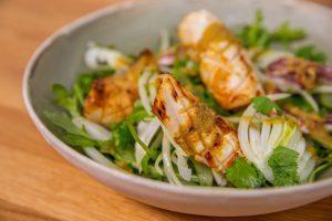 Flash Fried Squid, Fennel and Rocket Salad