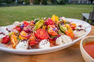 Tomato Salad with Mozzarella & Tomato Soup